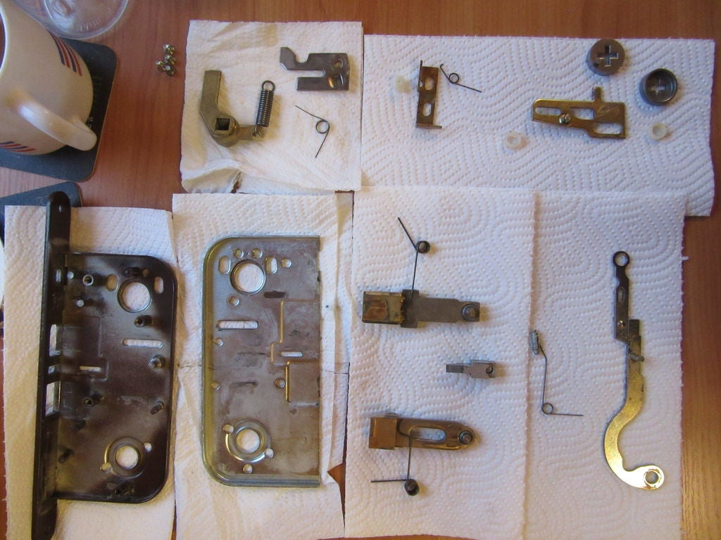 Picture of Notes on Cleaning and Reassembling a Boda 4235 Lock Case