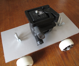 Skateboard dolly for a DSLR