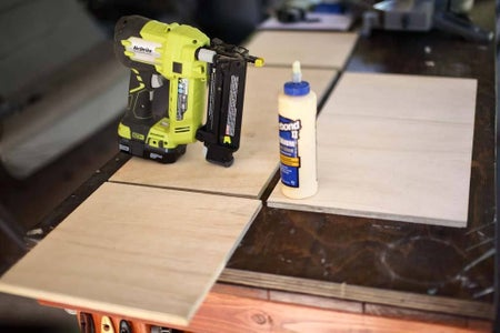Cut Plywood for Storage Boxes