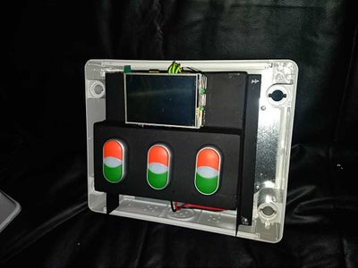 Raspberry Pi & PUSH-BUTTON MOUNTING