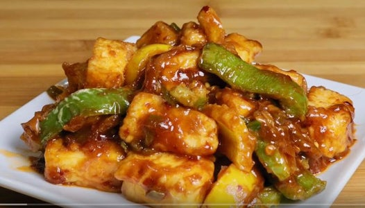 Chili Paneer Recipe (Hot & Spicy Asian Appetizer)