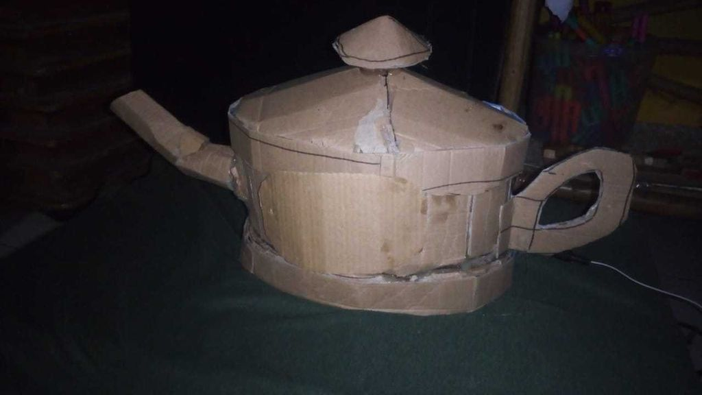 Picture of MAKING A CARDBOARD ALADDIN SMOKED LAMP