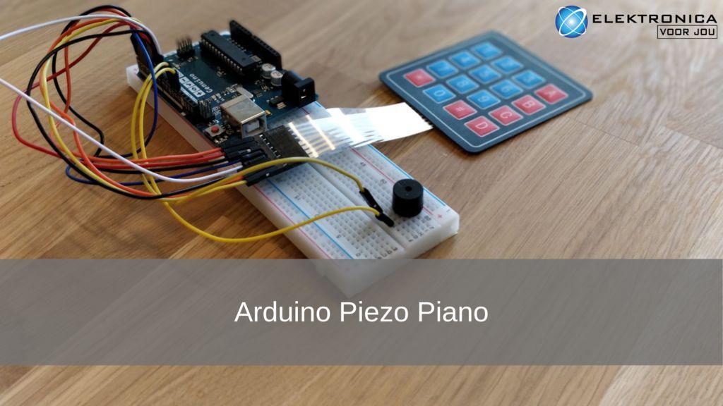 Picture of Arduino Project: Piezo Piano (NL)
