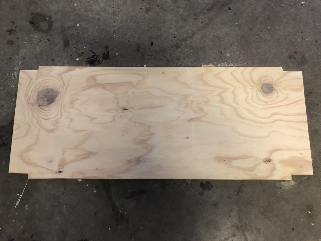 Picture of Trim Notches Out of the Plywood Base