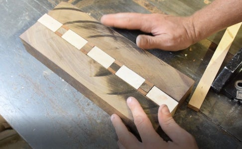 Cutting Sapele Between Maple and Walnut