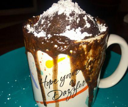 Molten Lava Chocolate Mug Cake