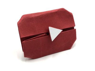 Botón De YouTube Origami Fácil Paso a Paso Con Fotos Y Video
