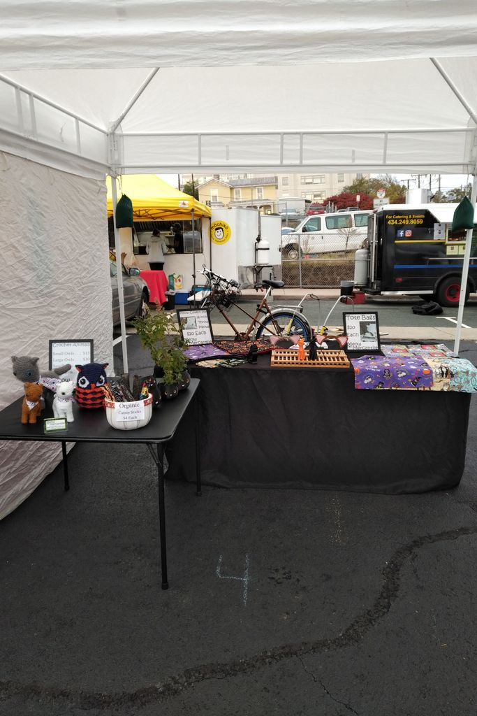 Picture of An Adjustable Bike Trailer for a Craft Booth