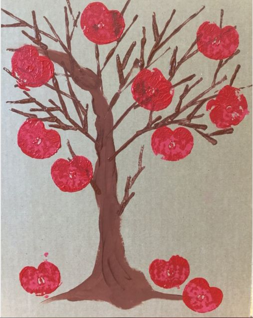 Picture of CARDBOARD PRINTED APPLE TREE