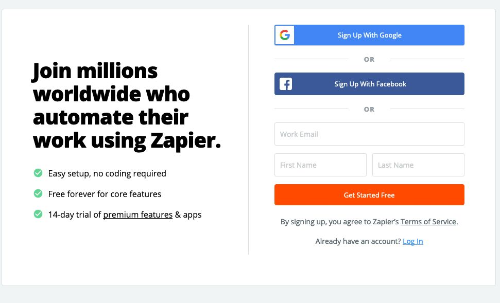 Picture of Setting Up Zapier