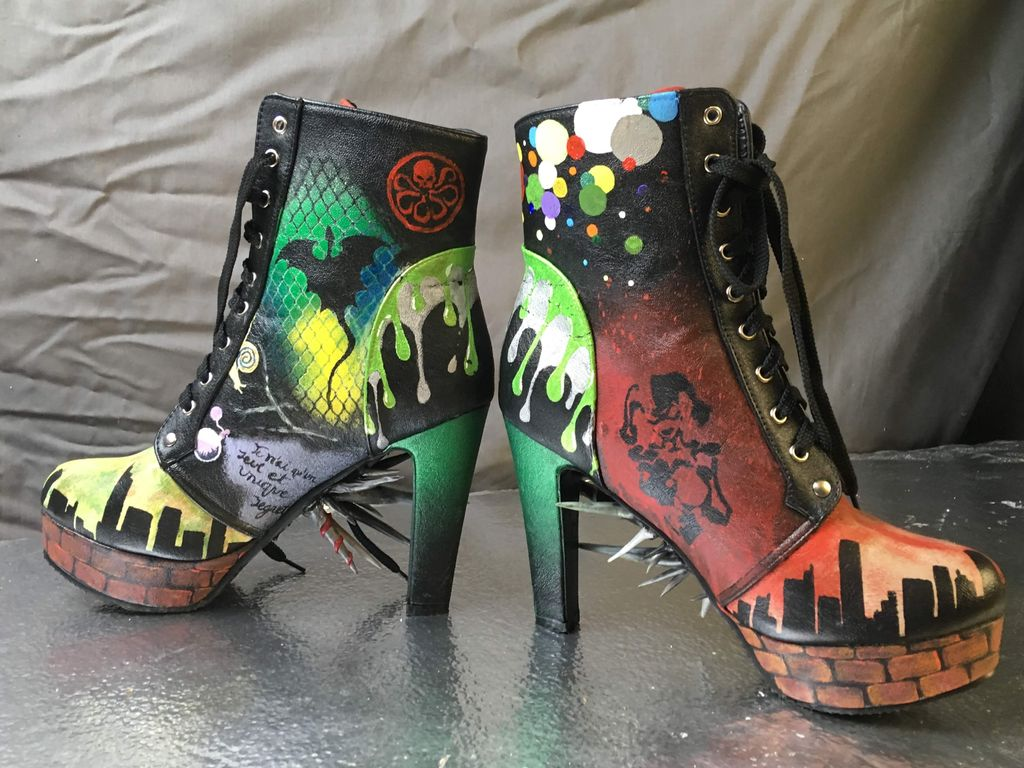Picture of Bad*ss Graffiti Boots