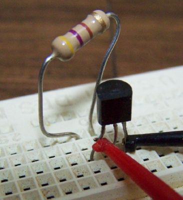 Picture of Bias the Transistor for Testing