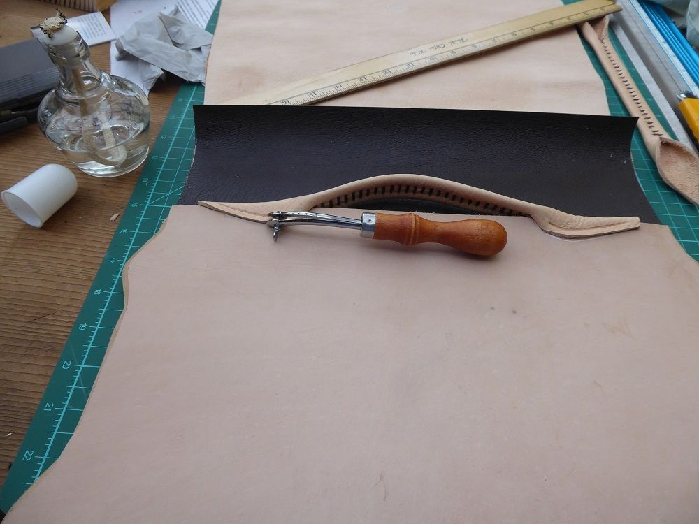 Picture of Marking and Punching the Stitch Lines