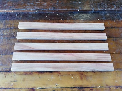 Make a Cavity in Two of the Wooden Slats, (later Front and Back Legs).