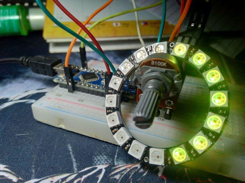Picture of Potentio Indicator Uses RGB Neopixel