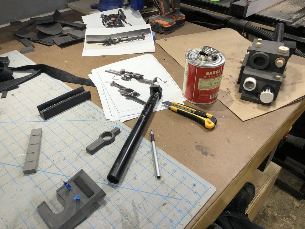 Picture of Neutrino Wand Fabrication - Handle, Barrel, Grips, Bits & Bobs