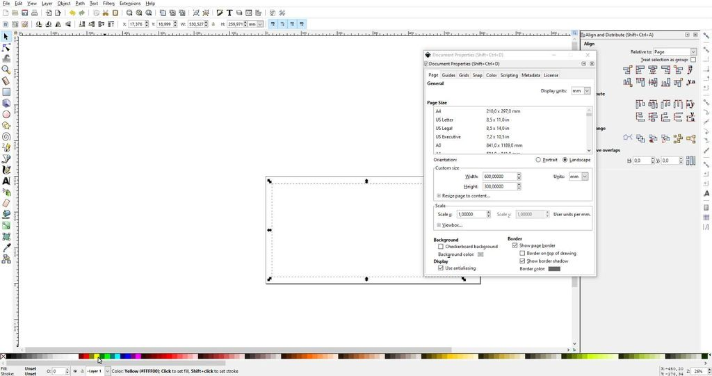 Picture of Adjust Canvas Setting