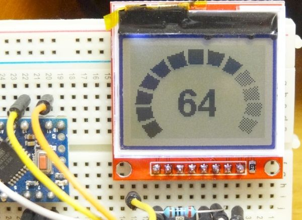 Picture of Gauges and Progress Bars for Arduino Monochrome Displays