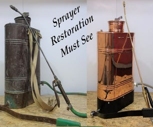 1940s Bakcpack Copper Sprayer Restoration