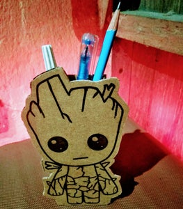 DIY Baby Groot Pen Stand From Cardboard!
