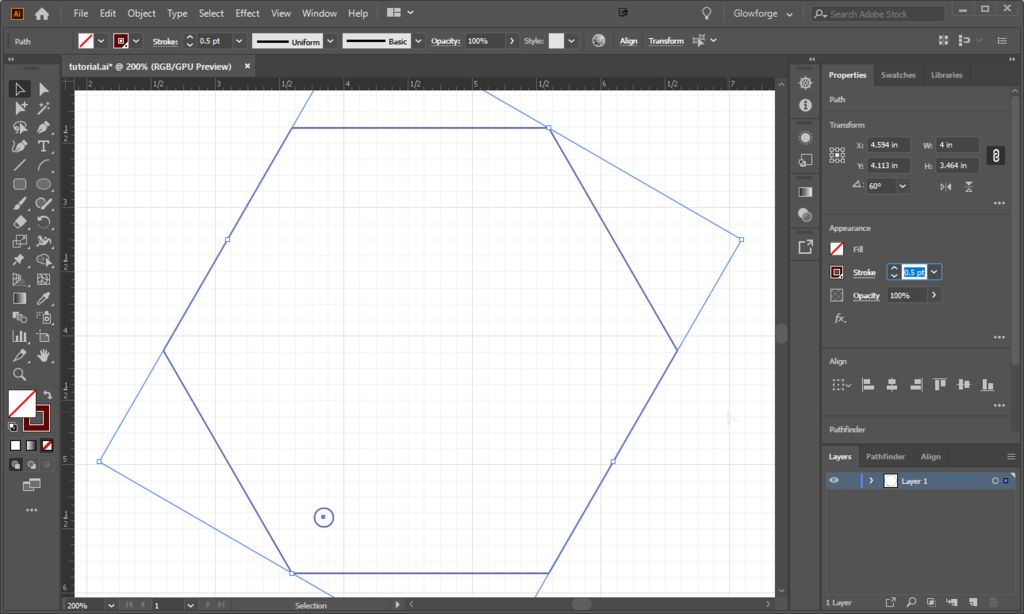 Picture of Create Hexagon With Screw Holes