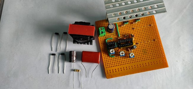 Soldering the Transformer and Feedback System