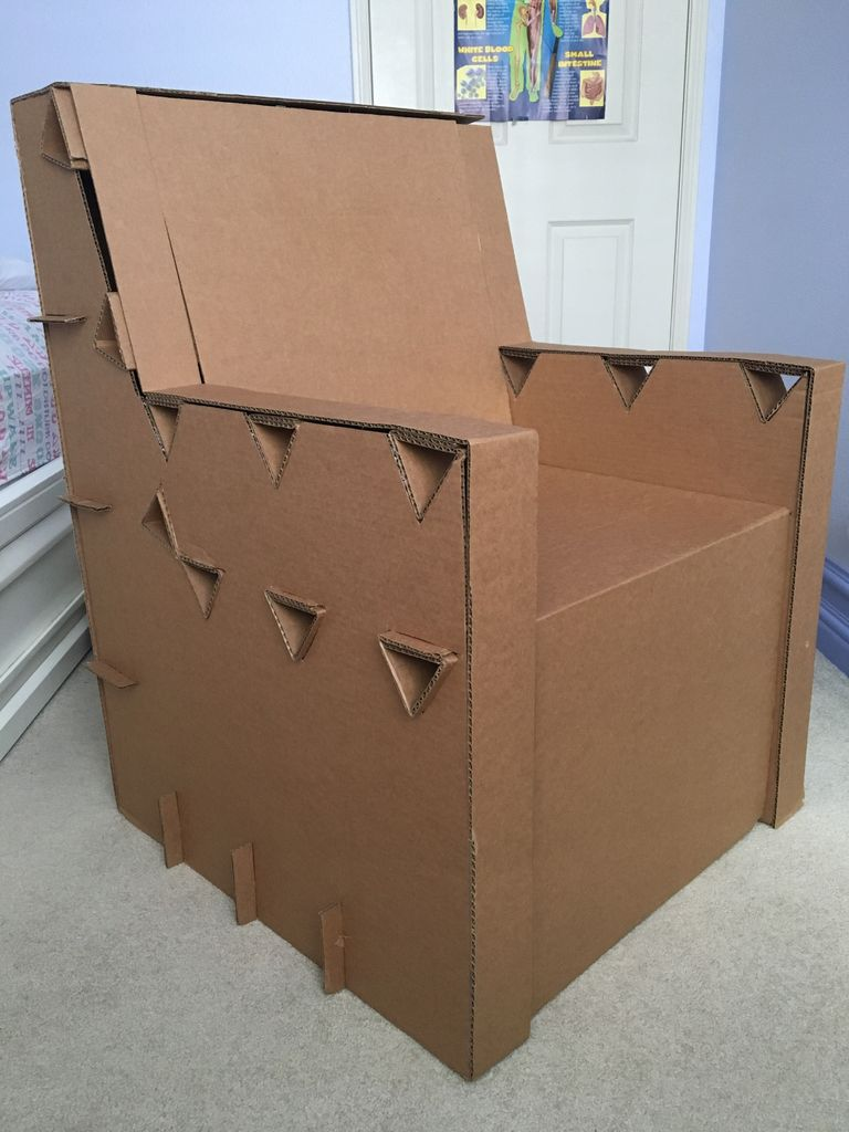 Picture of Cardboard Chair (Yes, It's All Cardboard)