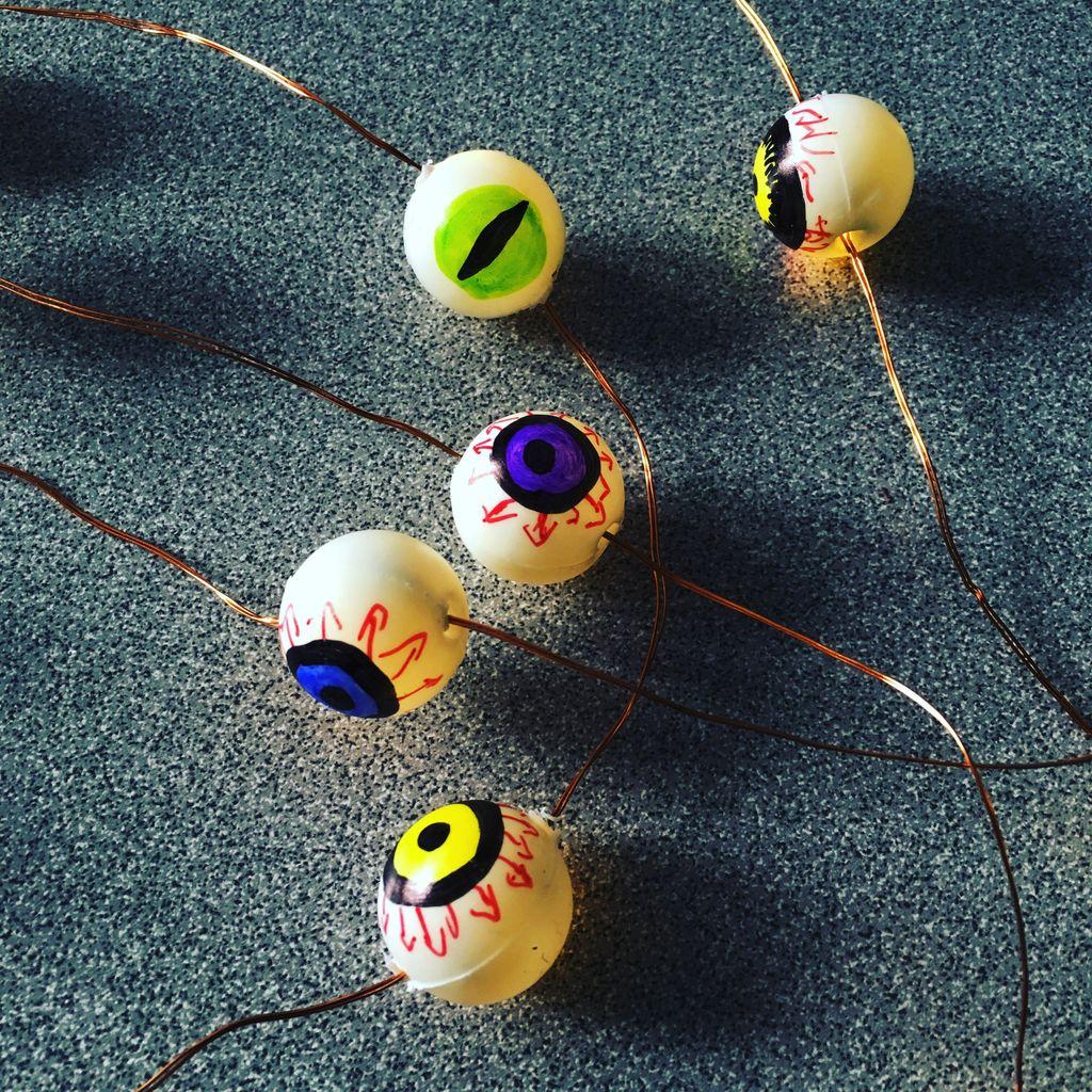 Picture of DIY Eyeball String Lights
