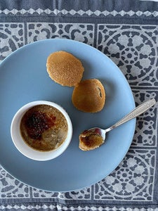 Espresso Creme Brulée With Coffee Tuiles