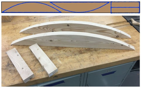 Cutting the Curved Sides and End Supports