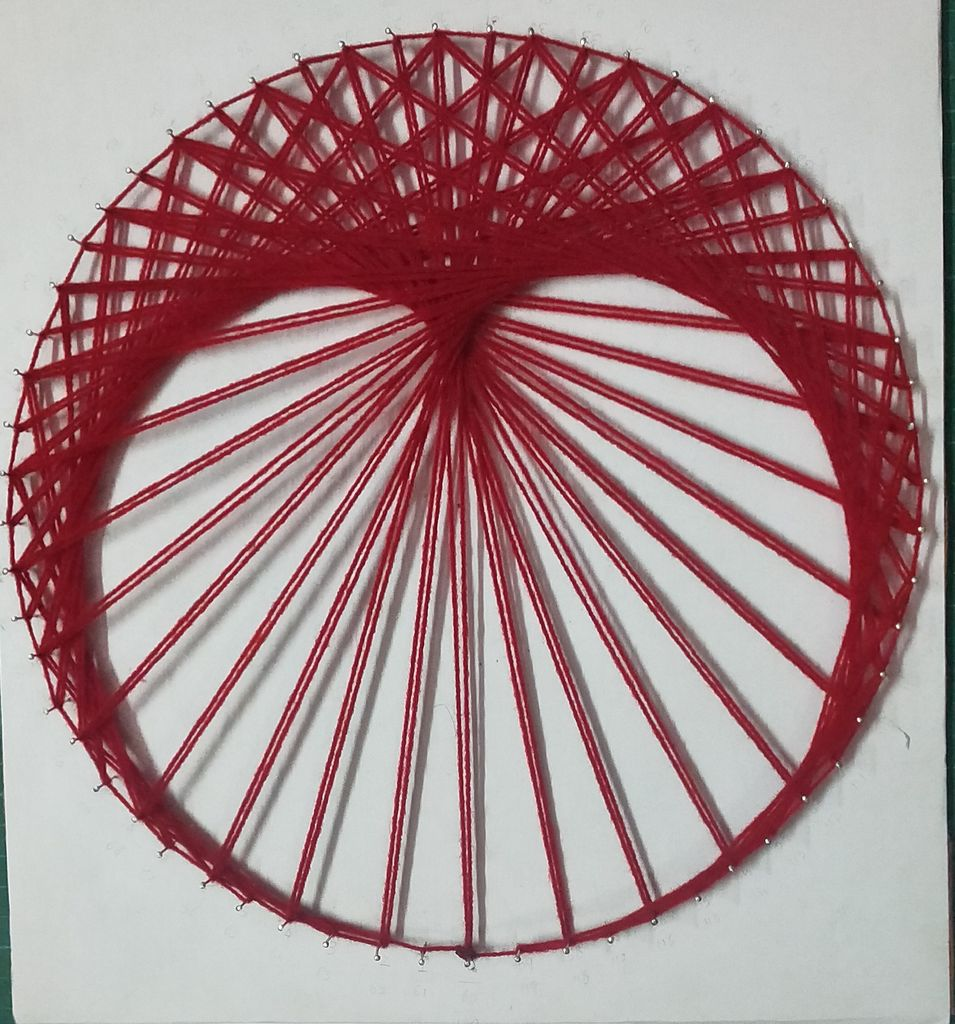 Picture of String Art Cardioid Using Two Times Table