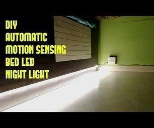 DIY Automatic Motion Sensing Bed LED Night Light