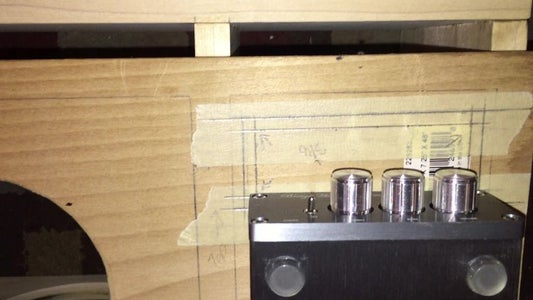 I Placed All Components for the Amp Inside to See Where They Fit and Marked the Cutouts & Predrilled Driver Placement
