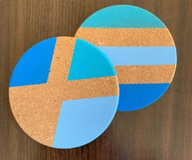 DIY Painted Geometric Coasters