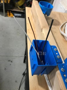 RUN POWER WIRE INTO ONE OF THE BOXES