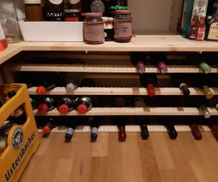 Cheap and Easy Wine Rack