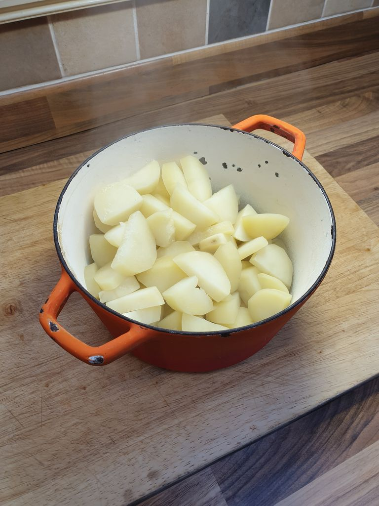 Picture of Peel and Chop Potatoes