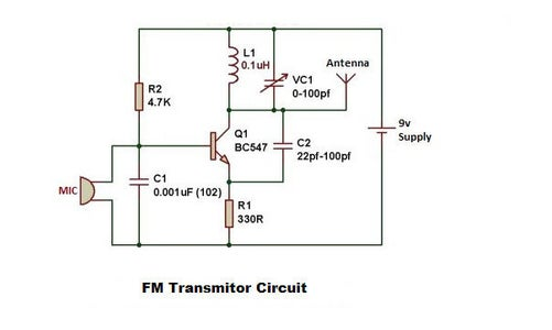 Working of Simple FM Transmitter Circuit