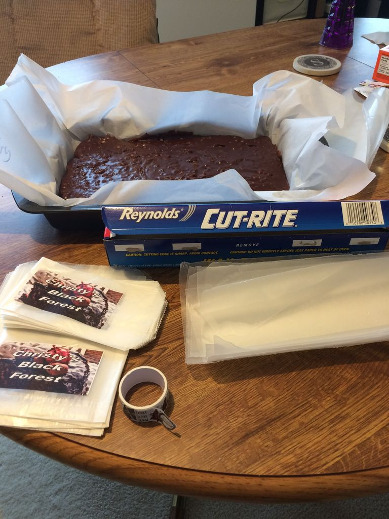 Picture of Remove Fudge From Pan, Cut, and Wrap in Waxed Paper