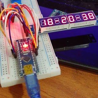 Digital Clock Project Using 8 Digit 7 Segment MAX7219 Module