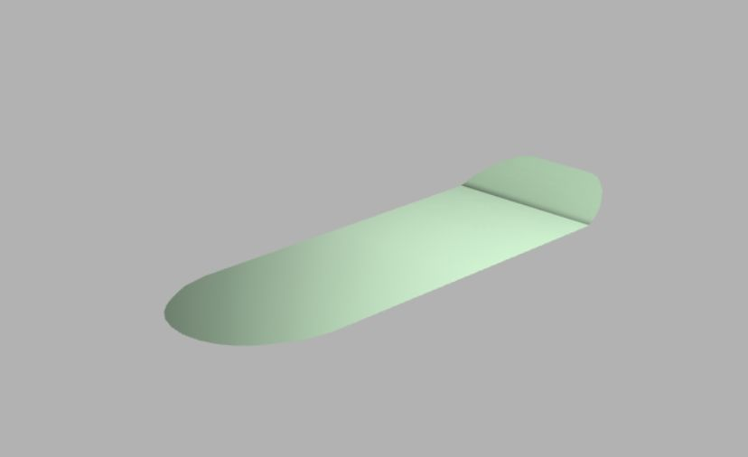 Picture of Build a Lower Surface of the Skateboard