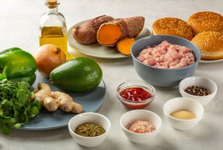 Simple Sweet Potato Turkey Burgers (suitable for Paleo & Gluten-free Diets)