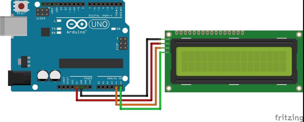 Picture of Connection With Arduino and I2C Lcd Adapter