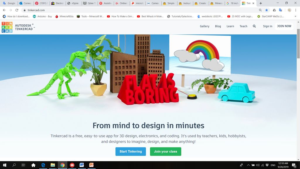Picture of Day 1: Creating TinkerCAD Accounts: