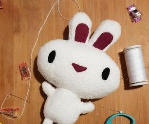 小毛绒玩具从可印刷的模式