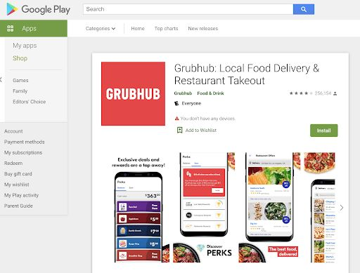 Picture of How to Get the Grubhub App