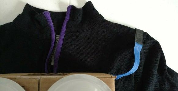 Stick Straps to Sweater