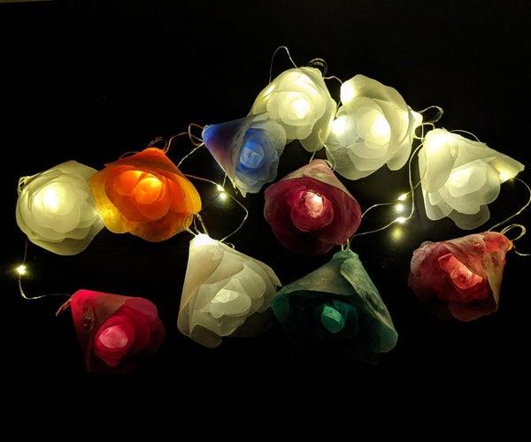Hot Glue Flower Lights