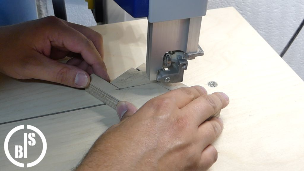 Picture of Cutting the Center Layer to Final Shape