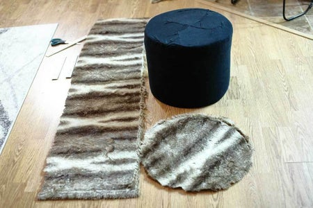 Sew the Outer Fabric for the Ottoman Footstool
